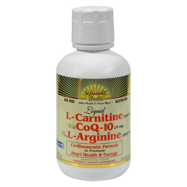 Dynamic Health Liquid L-Carnitine with CoQ-10 plus L-Arginine Lemon Lime - 16 fl oz %count(alt)