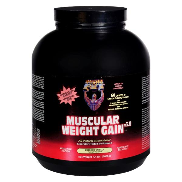 Healthy 'N Fit Muscular Weight Gain 2 - Vanilla - 4.4 Lb. %count(alt)