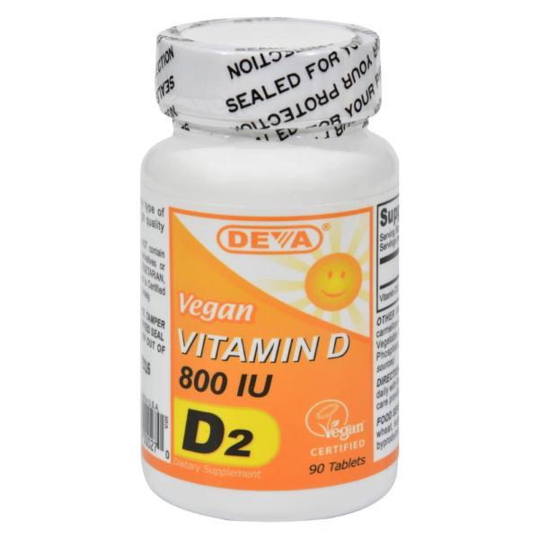 Deva Vegan Vitamins - Vitamin D - 800 IU - 90 Tablets %count(alt)