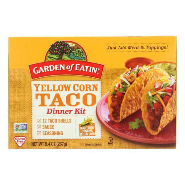 Garden of Eatin' Yellow Corn Taco Dinner Kit - Dinner Kit - Case of 12 - 9.4 oz. %count(alt)