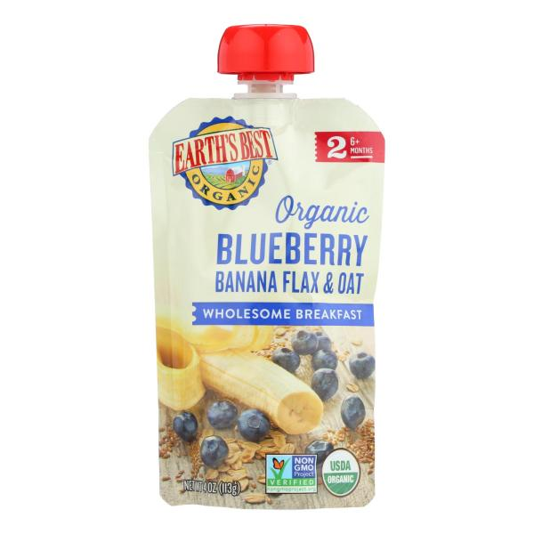 Earth's Best Organic Wholesome Breakfast Blueberry Banana Pouch - Case of 12 - 4 oz. %count(alt)