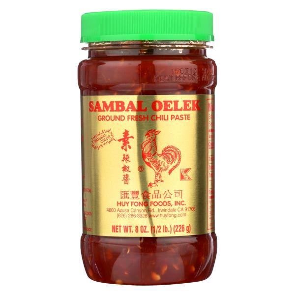 Indonesian Sambal Oelek Fresh Chili Paste - Case of 24 - 8 oz. %count(alt)