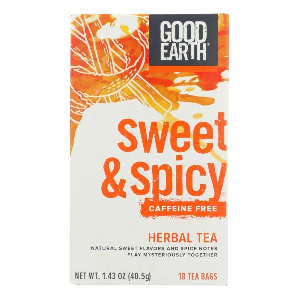 Good Earth Herbal Tea - Sweet and Spicy - Case of 6 - 18 Bags %count(alt)