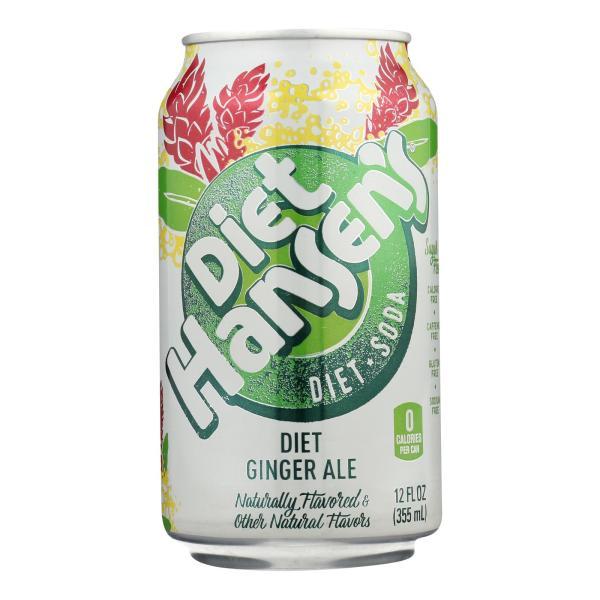 Hansen's Beverages Diet Soda - Ginger Ale - Case of 4 - 6/12 fl oz %count(alt)