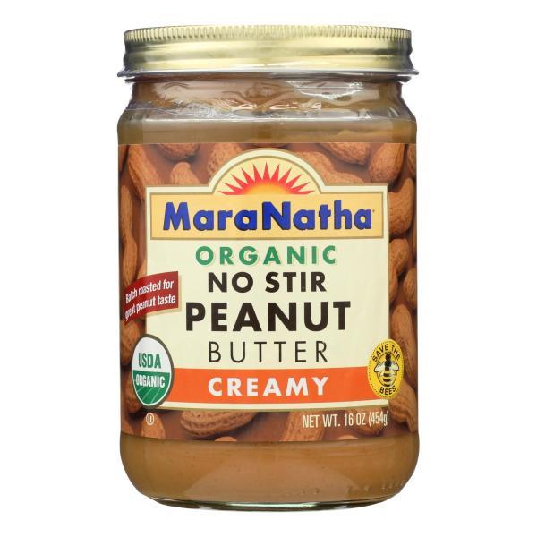 Maranatha Natural Foods Organic Peanut Butter - Creamy - No Stir - Case of 6 - 16 oz %count(alt)