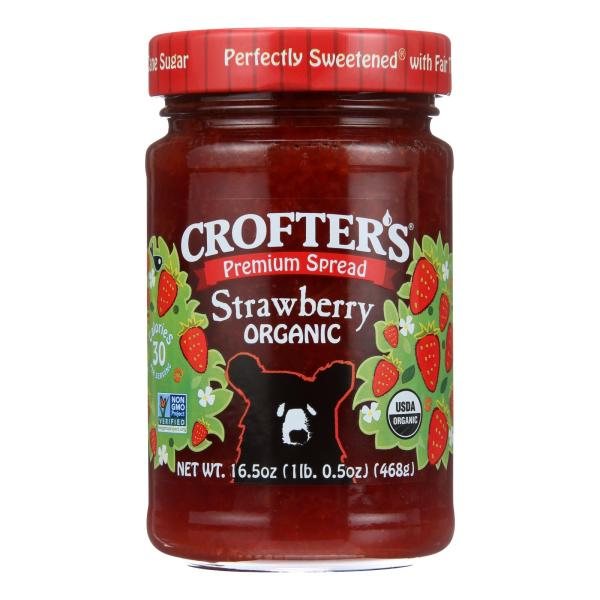 Crofters Fruit Spread - Organic - Premium - Strawberry - 16.5 oz - case of 6 %count(alt)