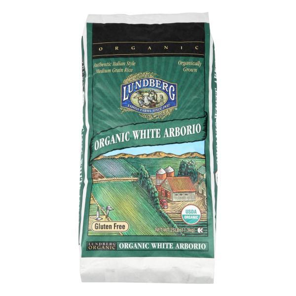 Lundberg Family Farms Organic California White Arborio Rice - Case of 25 lbs %count(alt)