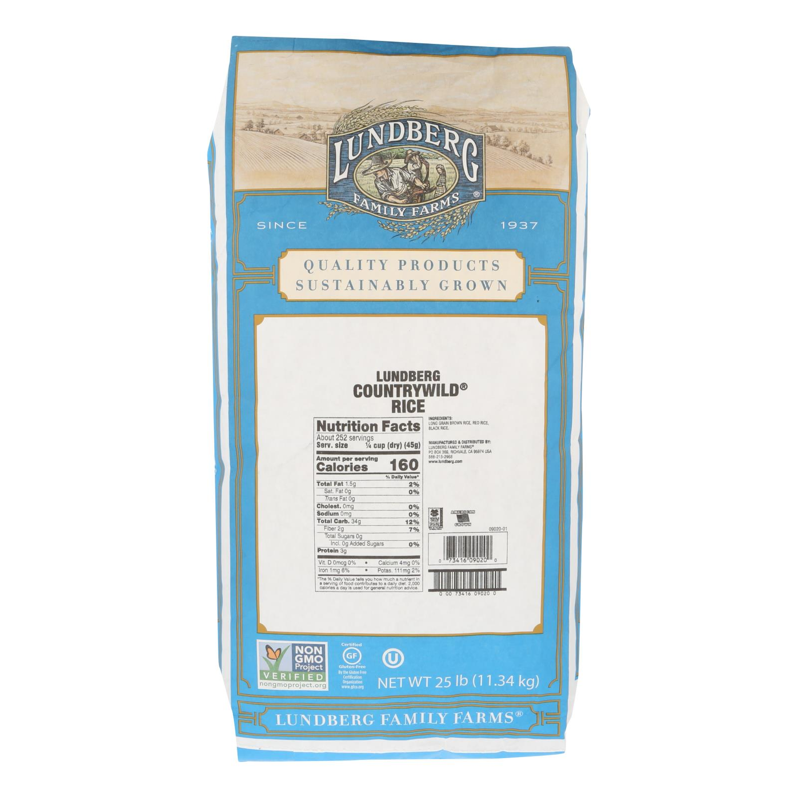 Lundberg Family Farms Whole Grain Brown Rice - Case of 25 lbs %count(alt)