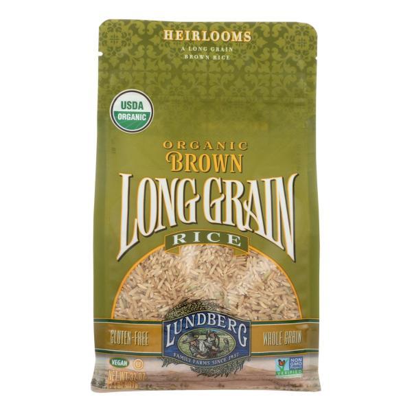 Lundberg Family Farms Organic Brown Long Grain Rice - Case of 6 - 2 lb. %count(alt)