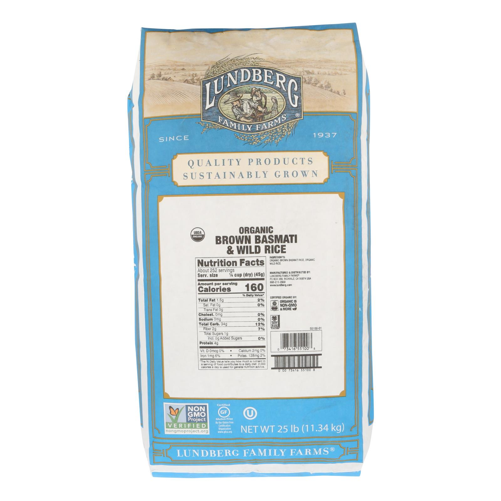 Lundberg Family Farms - Rice - Basmati Brown and Wild Rice Blend - Case of 25 - # %count(alt)