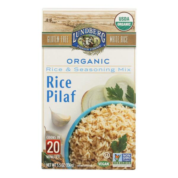 Lundberg Family Farms - Rice and Seasoning Mix - White Rice Pilaf - Case of 6 - 5.50 oz. %count(alt)