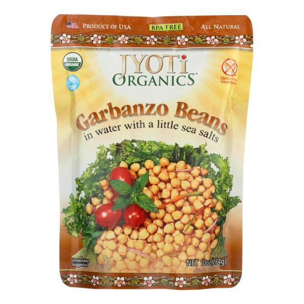 Jyoti Cuisine India Beans - Organic - Garbanzo - 10 oz - case of 6 %count(alt)