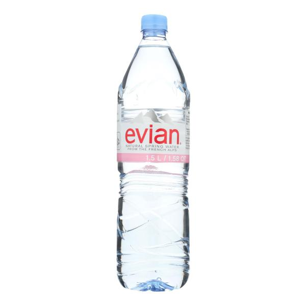 Evians Spring Water Natural Spring Water - Water - Case of 12 - 50.7 FL oz. %count(alt)