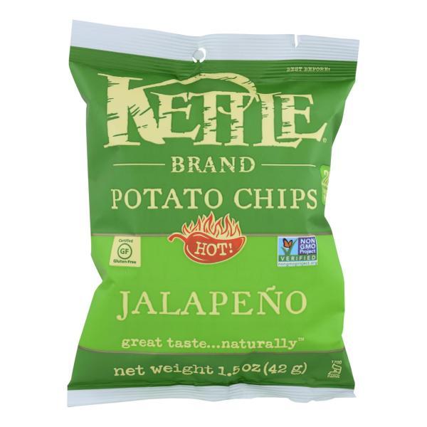 Kettle Brand Potato Chips - Jalapeno - Hot - 1.5 oz - case of 24 %count(alt)