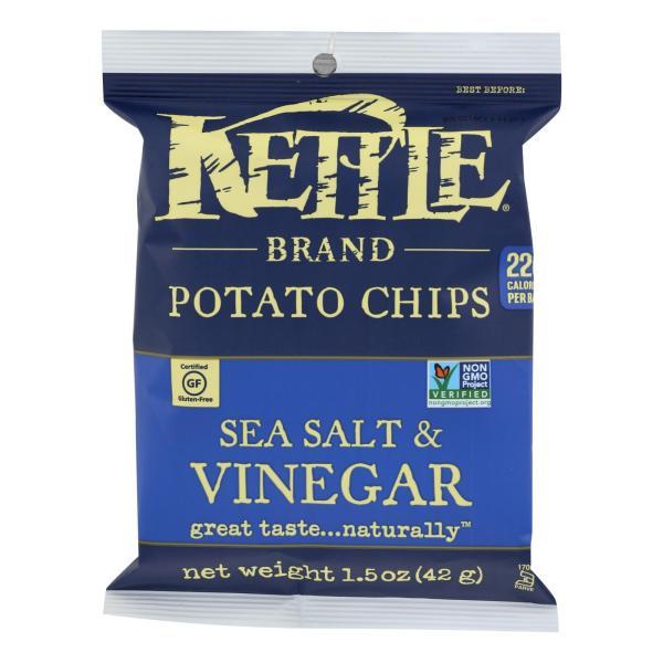 Kettle Brand Potato Chips - Sea Salt and Vinegar - 1.5 oz - case of 24 %count(alt)