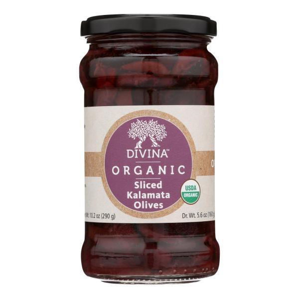 Divina - Organic Olives - Kalamata Sliced - Case of 6 - 5.6 oz. %count(alt)
