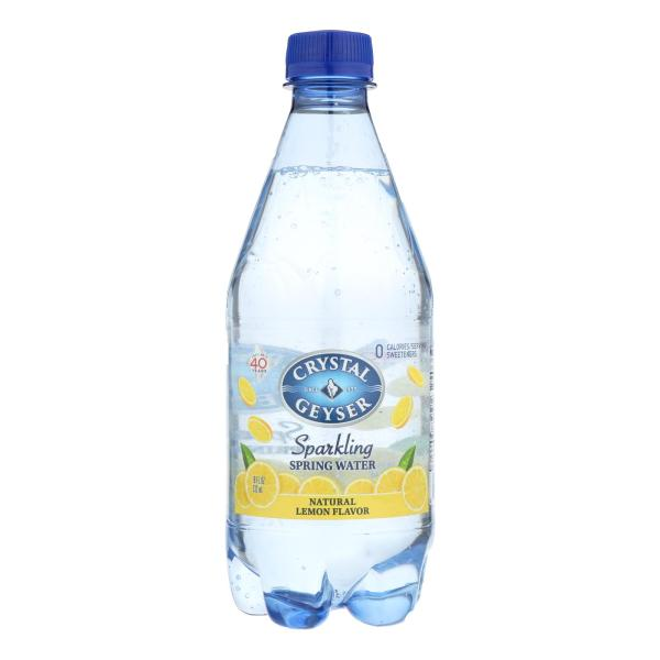 Crystal Geyser Sparkling Mineral Water Natural Lemon - Case of 6 - 4/18 FZ %count(alt)
