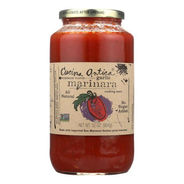 Cucina Antica - Garlic Marinara Cooking Sauce - Case of 12 - 32 FL oz. %count(alt)