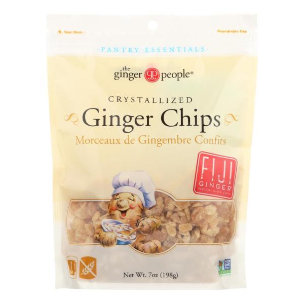 Ginger People Crystallized Ginger Chips - Bakers Cut - 7 oz - Case of 12 %count(alt)
