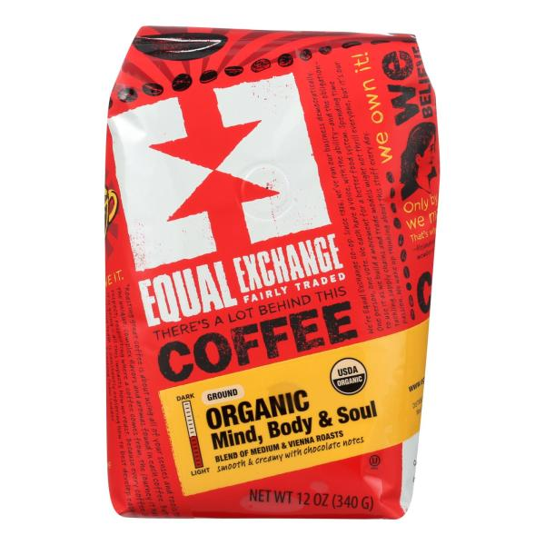 Equal Exchange Organic Drip Coffee - Mind Body and Soul - Case of 6 - 12 oz. %count(alt)