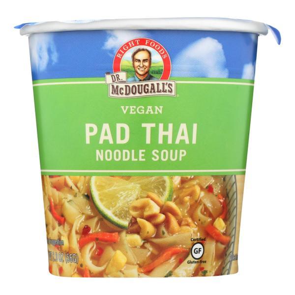 Dr. McDougall's Vegan Pad Thai Noodle Soup Big Cup - Case of 6 - 2 oz. %count(alt)