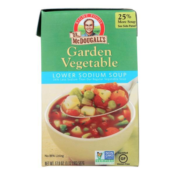 Dr. McDougall's Garden Vegetable Lower Sodium Soup - Case of 6 - 17.9 oz. %count(alt)