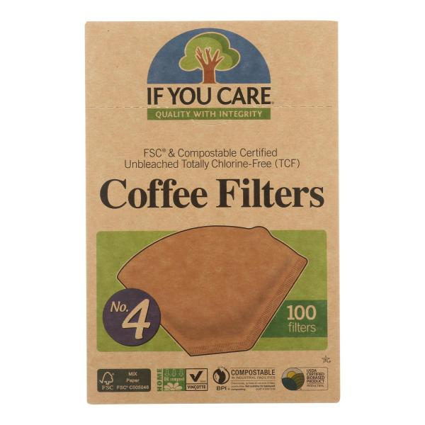 If You Care #4 Cone Coffee Filters - Brown - 100 Count (Pack of 3) %count(alt)