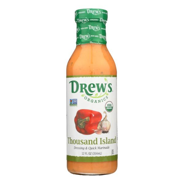 Drew's Organics Organic Dressing & Quick Marinade, Thousand Island - Case of 6 - 12 FZ %count(alt)