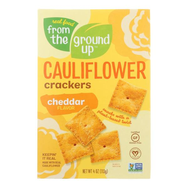 From The Ground Up - Cauliflower Crackers - Cheddar - Case of 6 - 4 oz. %count(alt)