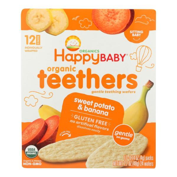 Happy Baby Teethers - Organic - Gentle - Banana and Sweet Potato - 1.7 oz - case of 6 %count(alt)