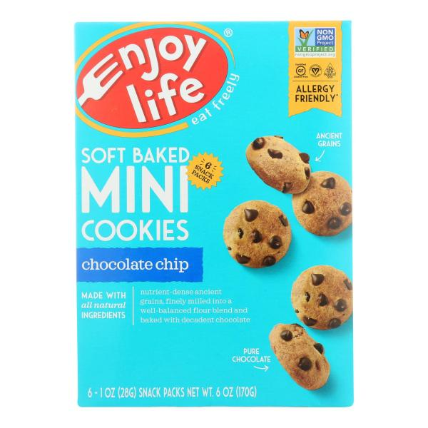 Enjoy Life - Mini Cookies - Chocolate Chip - Case of 6 - 6 oz. %count(alt)