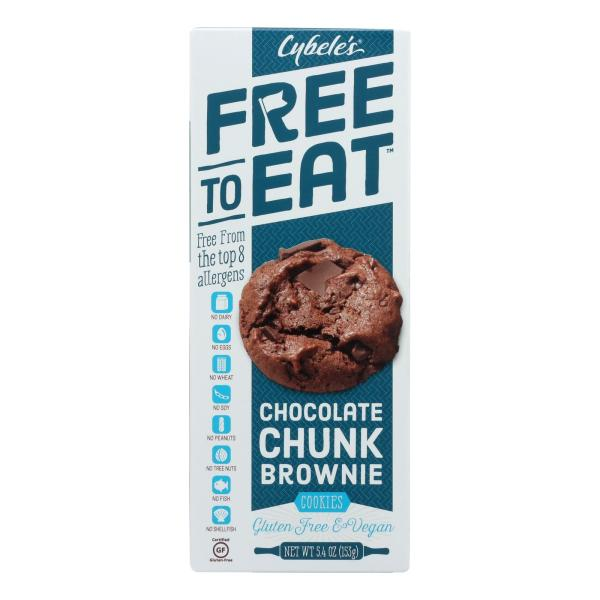 Cybel's Free To Eat Chocolate Chunk Brownie Cookies - Case of 6 - 5.4 oz. %count(alt)
