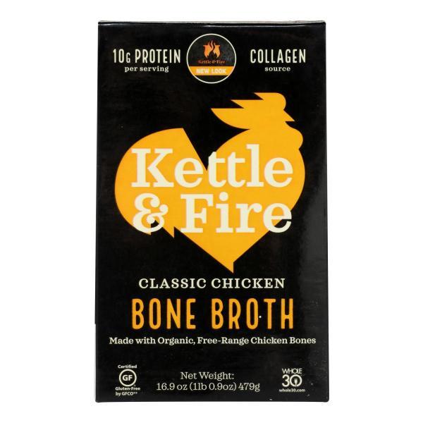 Kettle & Fire Chicken Bone Broth - Case of 6 - 16.9 OZ %count(alt)