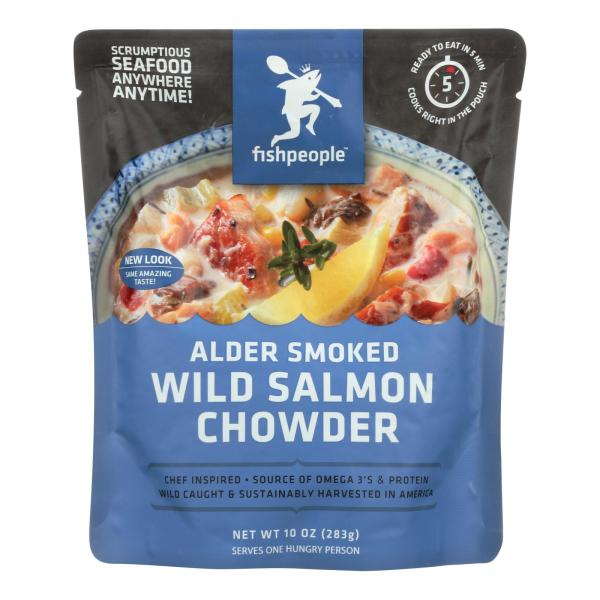 Fishpeople Wild salmon Chowder - Alder Smoked - Case of 12 - 10 oz. %count(alt)
