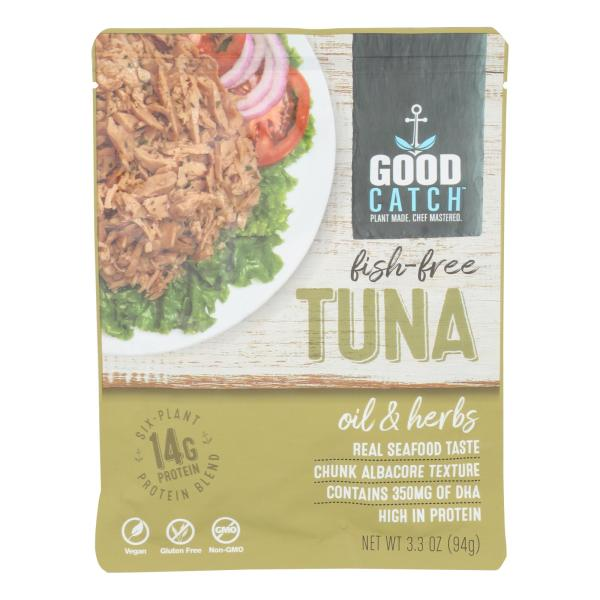 Plant Based Tuna Fish with Oil & Herb - Case of 12 - 3.3 OZ %count(alt)