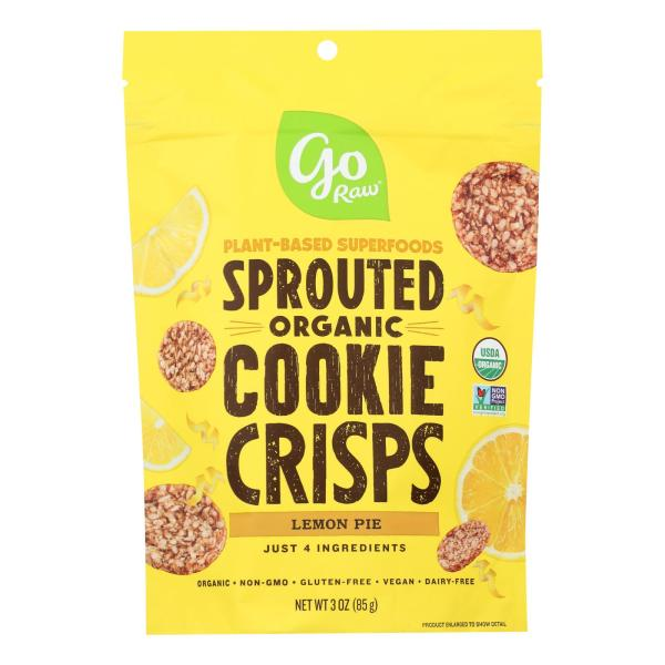 Go Raw - Organic Sprouted Cookies - Lemon - Case of 12 - 3 oz. %count(alt)