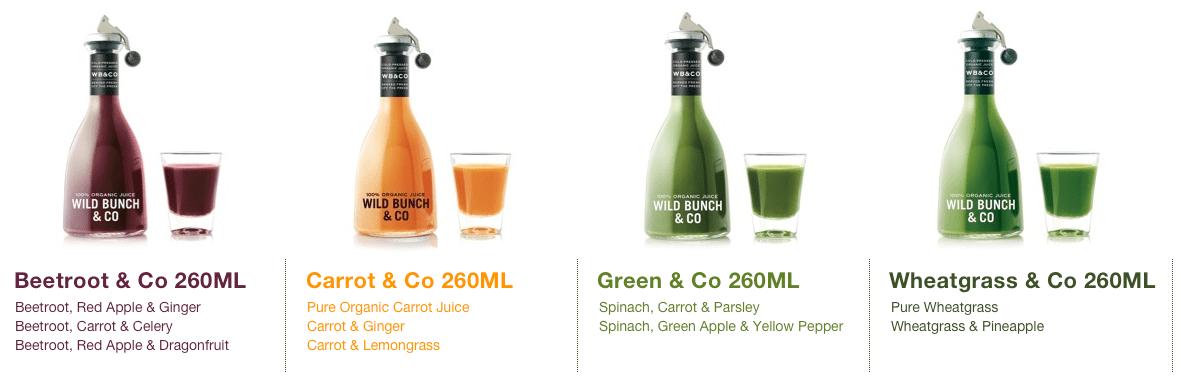 Wild Bunch & Co. premuim juices