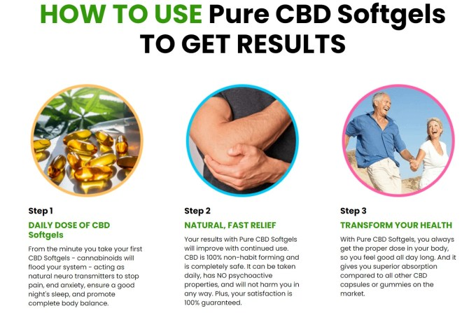 Pure CBD SoftGels How To Use