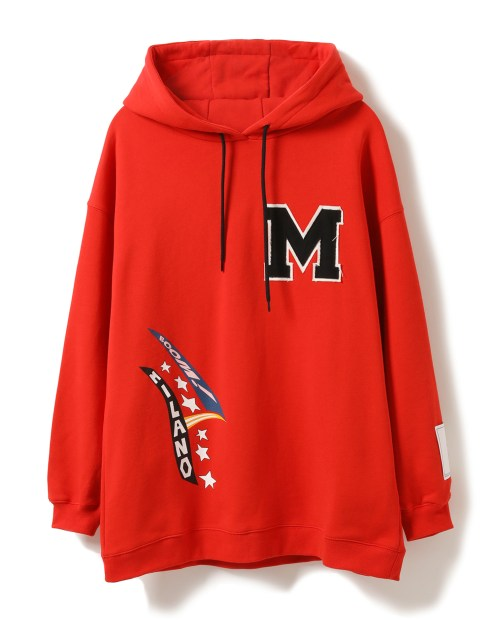 MSGM red embroidered hoodies $2,899