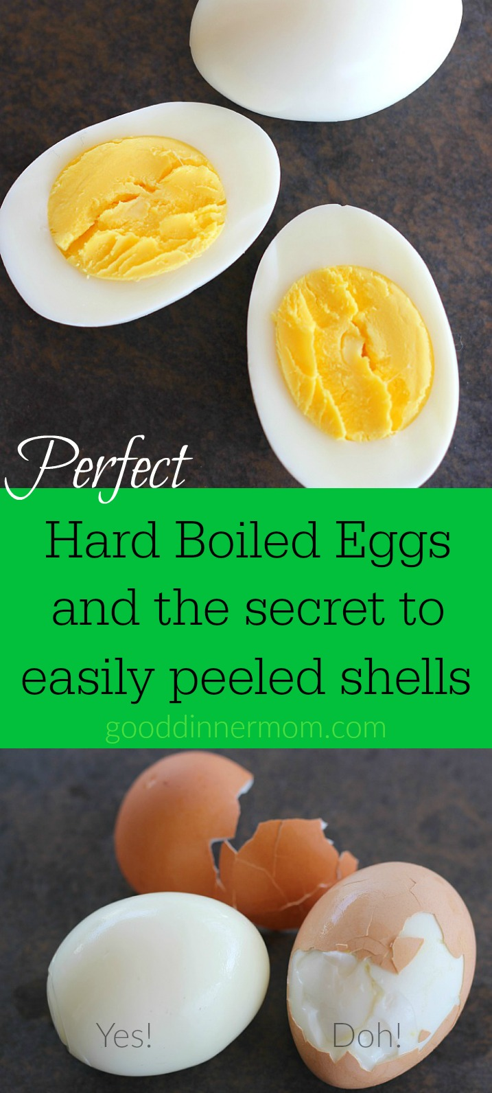 Simple and perfect hard boiled eggs with shells that practically slide right off! #hardboiledeggs #recipes #perfecthardboiledeggs #deviledeggs
