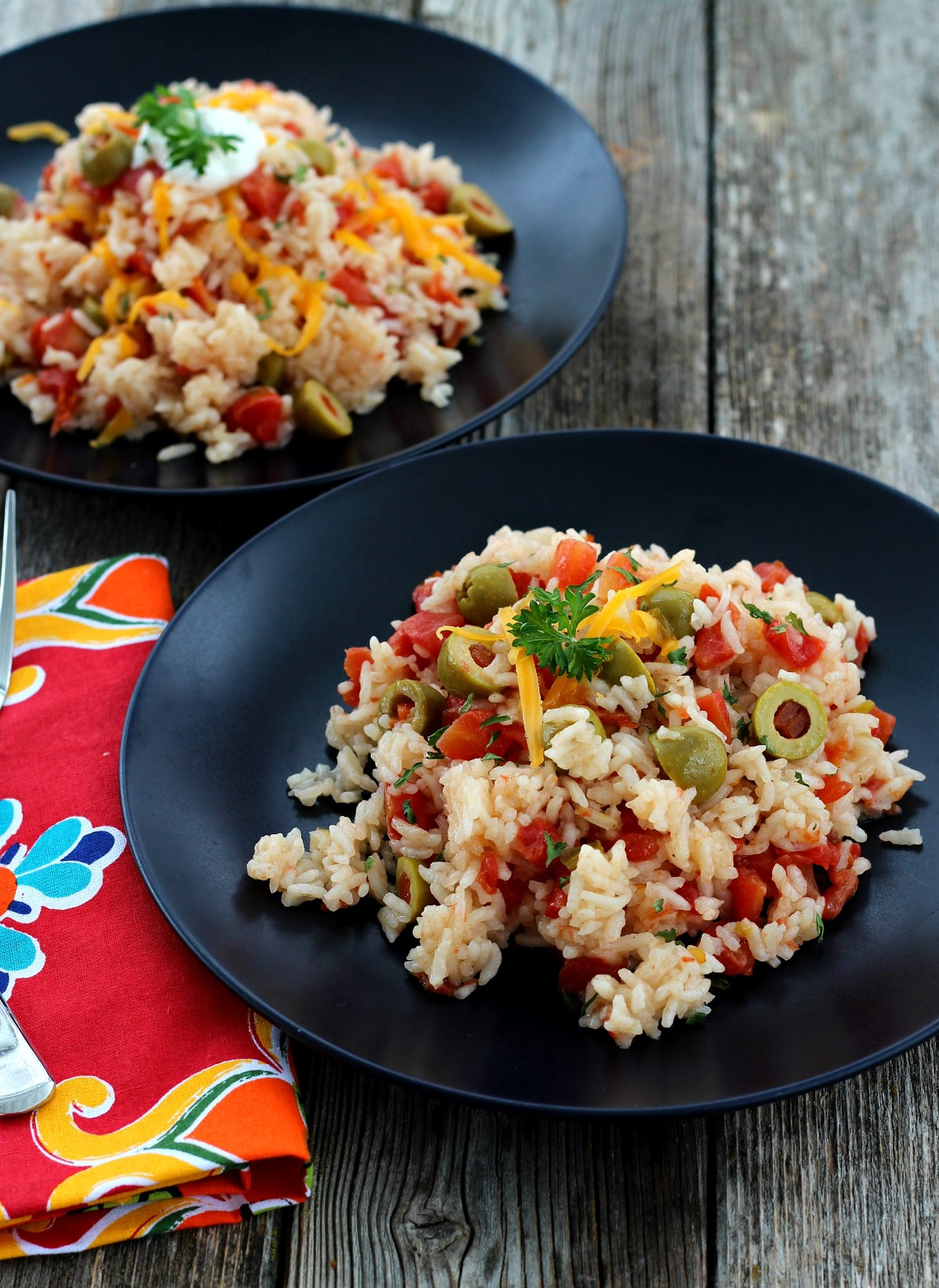 Simple and delicious Mexican Rice is made in one dish. Make it mild or spicy with Rotel tomatoes.