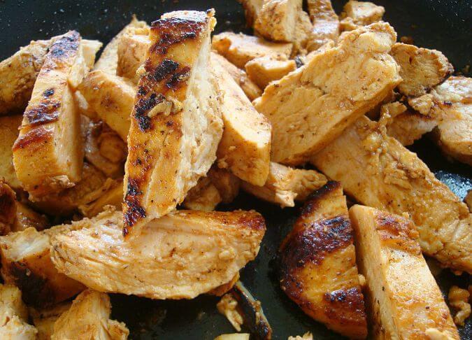 Best Chicken Fajitas with Raja con Crema