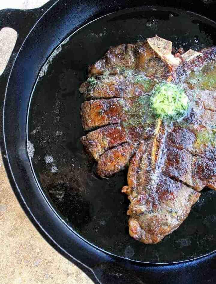 Perfect Porterhouse Steak with Parsley Shallot Maitre d Butter