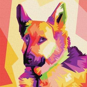 German Shepherd Canvas Pop Art