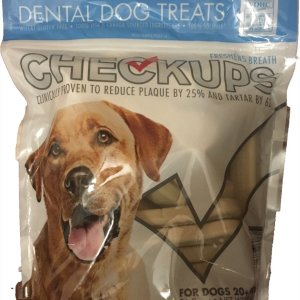 checkups dental dog treats front view