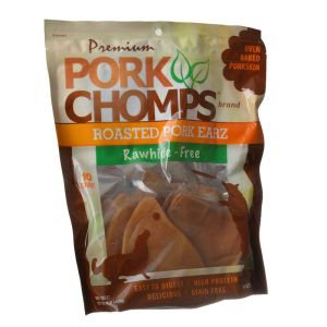 10-pack pork chomps pig earz front view