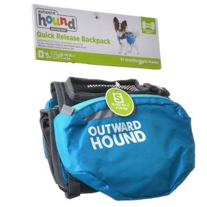 outward hound quick release backpack front view