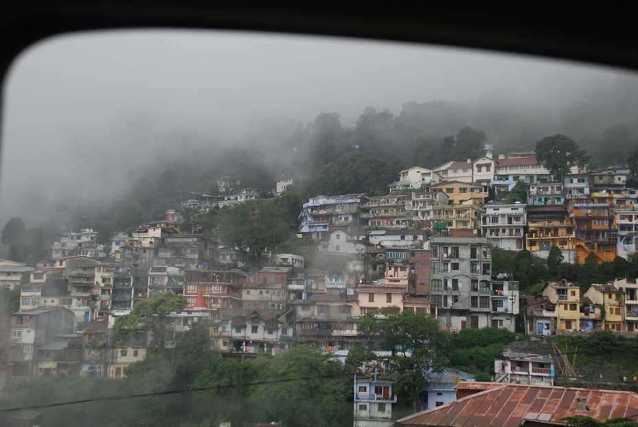 cluster of hotels/cottages at Nainital