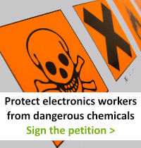 Button Sign the petition! Demand electronics companies to make safer, more sustainable products.