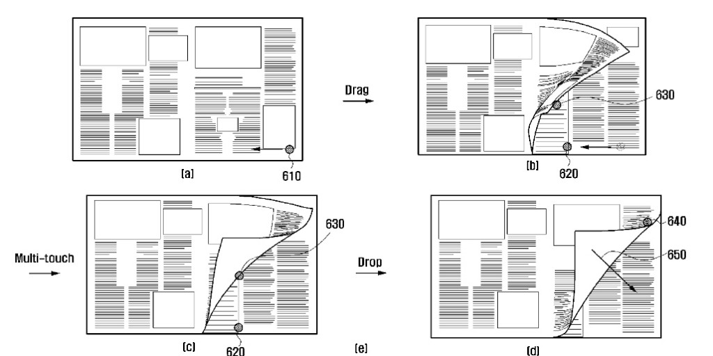 Samsung Files New Patent for the eBook Page Turn